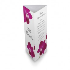 Menu de table orchidée wrap