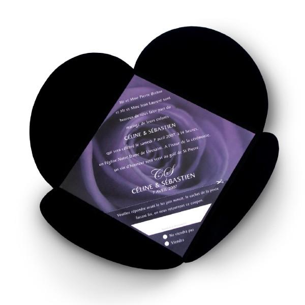 faire part mariage rose violette. Black Bedroom Furniture Sets. Home Design Ideas