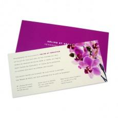 faire part mariage orchide rose - Faire Part Mariage Orchide