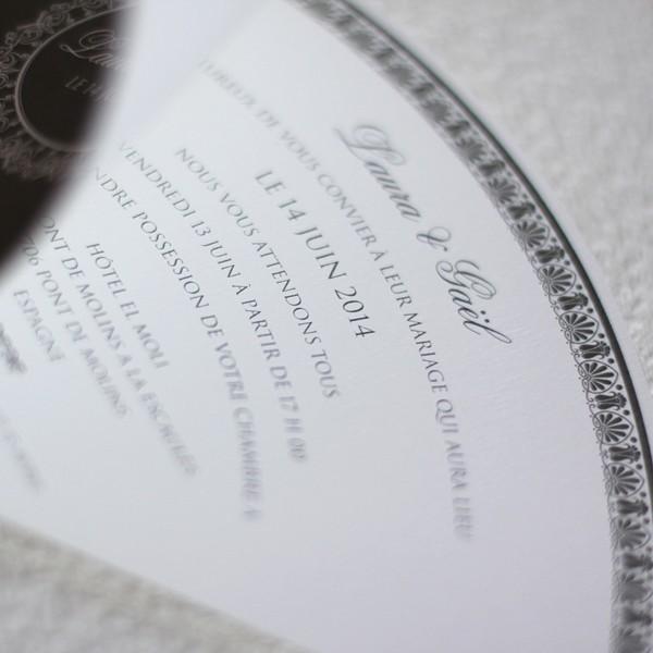 Exceptionnel Faire part mariage éventail DT94