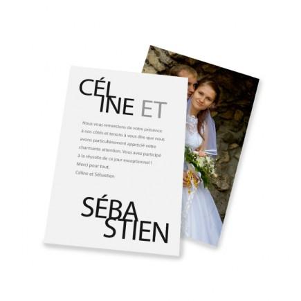 remerciement classique texte platine - Texte Carte De Remerciement Mariage