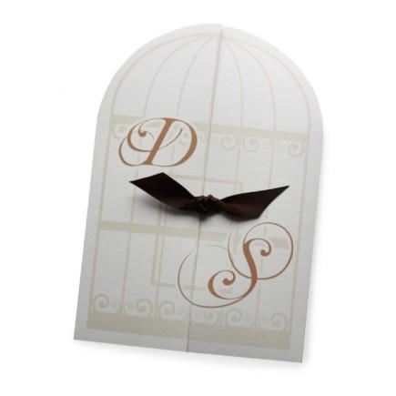 faire part mariage la cage aux oiseaux. Black Bedroom Furniture Sets. Home Design Ideas