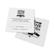 Carton réponse art nouveau noir et blanc