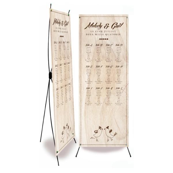 Plan de table mariage vintage bois for Plan table bois