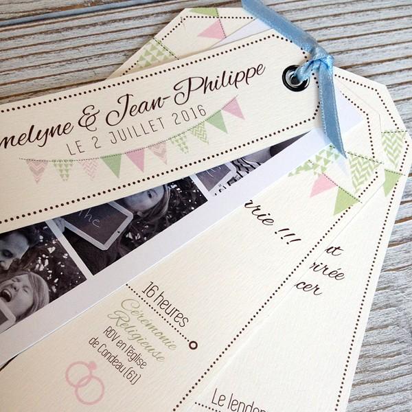 faire part mariage fanion photomaton prcdent suivant - Faire Part Mariage Photomaton