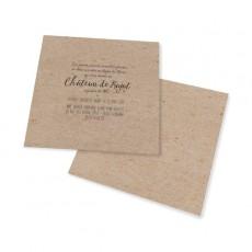 Carton d'invitation vintage kraft decoupe laser