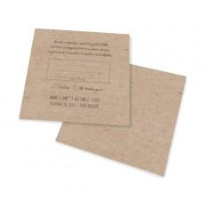 Carton réponse vintage kraft decoupe laser
