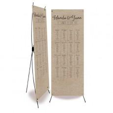 Plan de table mariage vintage kraft decoupe laser