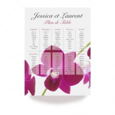 Plan de table orchidée wrap