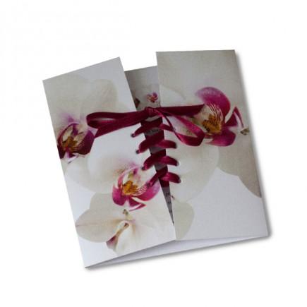 faire part mariage corset orchide rose - Faire Part Mariage Orchide