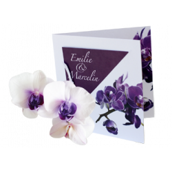 Orchid themed invitations