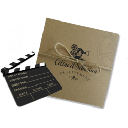 Cinema themed invitations