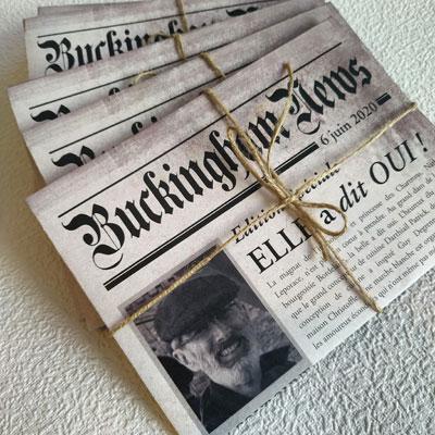 creation faire-part newspaper