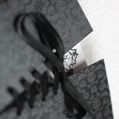 faire part mariage corset baroque