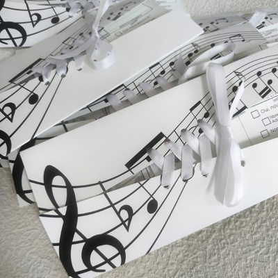 corset wedding stationery