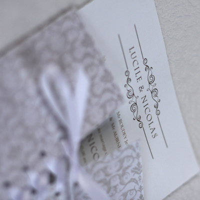 arabesque corset and lace invite