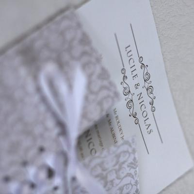 faire part mariage corset arabesque