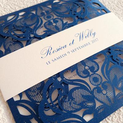 blue dentelle wedding collection