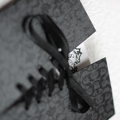 faire part mariage baroque corset noir