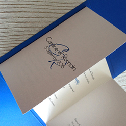 invitation bleu wedding