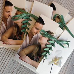 faire part mariage corset avec photo