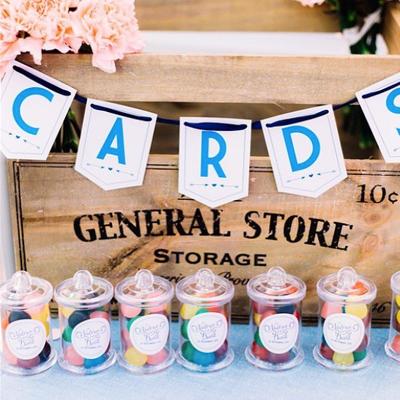 cartes reception mariage bleu