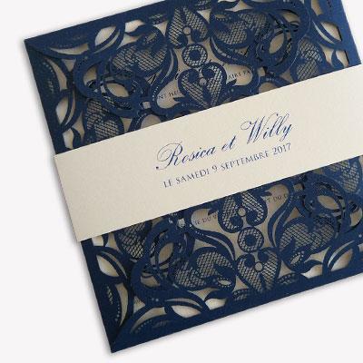 collection chic wedding invitation