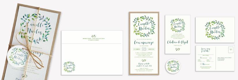 shabby chic wedding stationery
