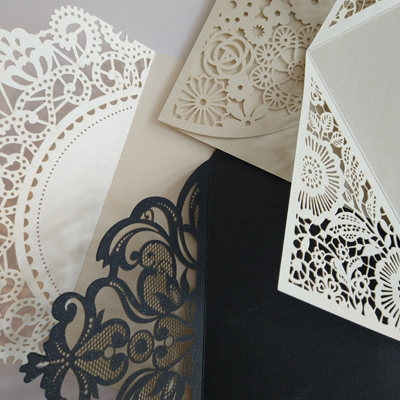lace wedding invitation outers