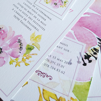 wedding invite peonies