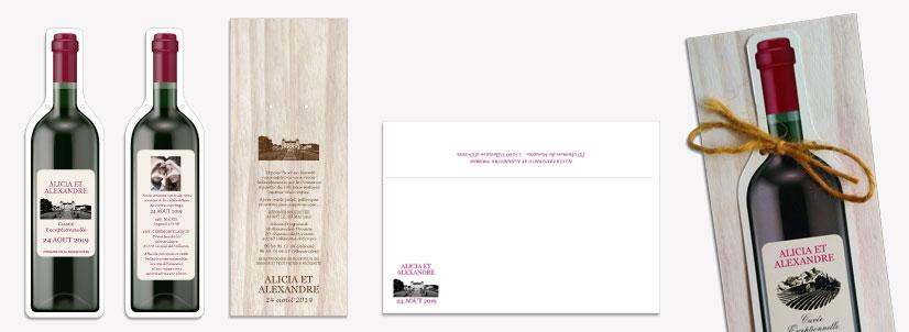 original wine bottle wedding invitation
