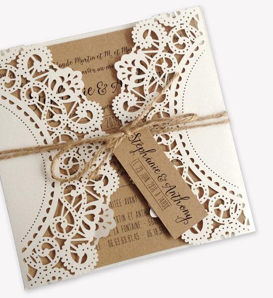 champetre wedding stationery