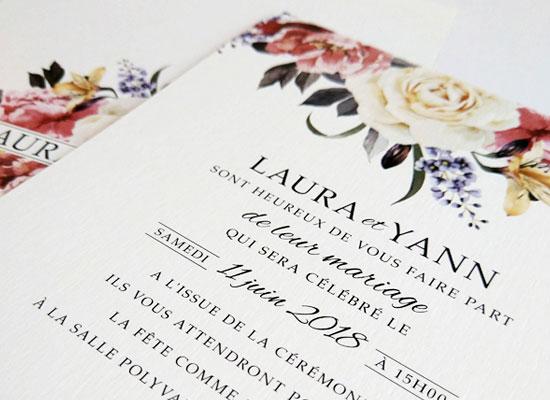 chic rose wedding invitation