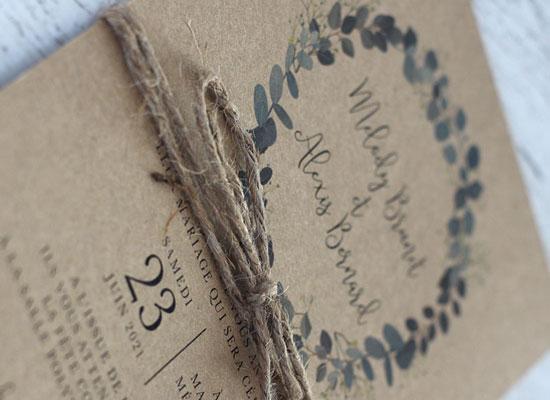 eucalyptus kraft invitations