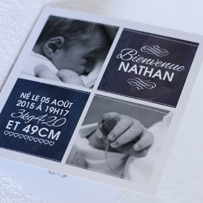 collection de faire part de naissance