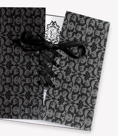 faire part mariage corset noir et blanc
