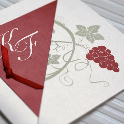 faire part mariage vignes et vins