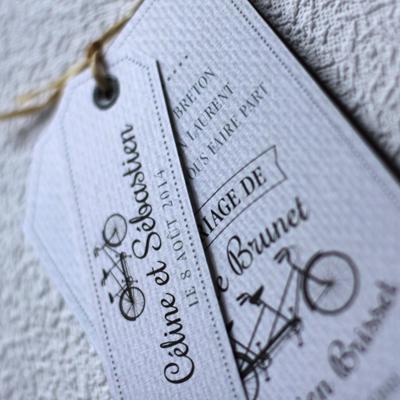 faire part mariage vintage avec vélo