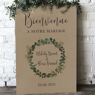 Wedding welcome boards travel theme