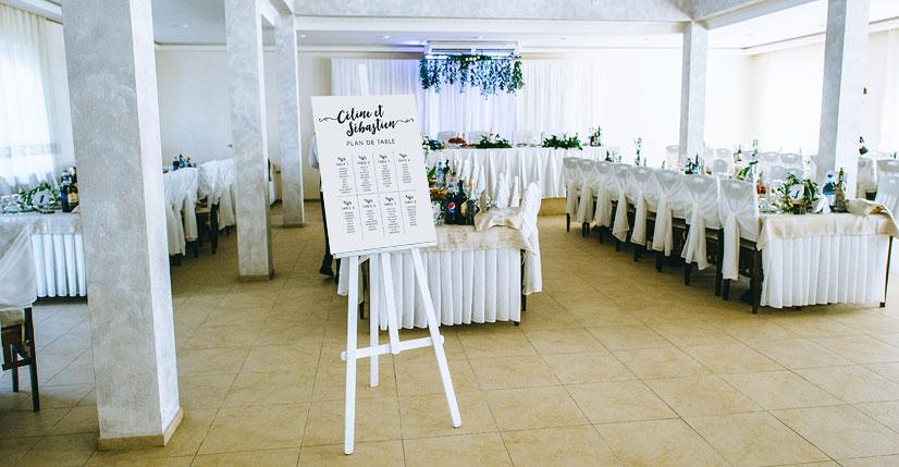 plan de table mariage salle de reception