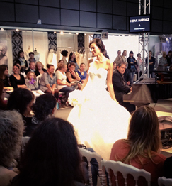 wedding dresses on the catwalk in biarritz at halle d'iraty event center